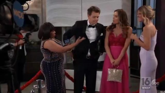 Marchesa Notte V Neck Sleeveless Embroidered outfit worn by Sofia Mattsson as seen in General Hospital May 17, 2019 - TV Show Outfits and Products