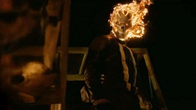 Fashion Trends 2021: Mask of Ghost Rider Robbie Reyes (Gabriel Luna) seen in Marvel : Agents of S. H. I. E. L. D. Season 4 Episode 1