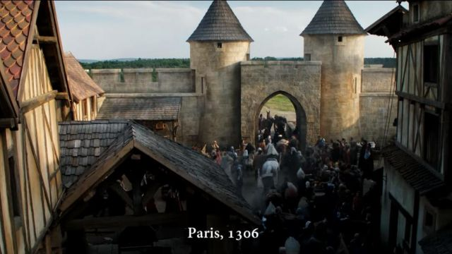 Medieval city of Paris was rebuilt in the Studios of Barrandov near Prague for the series Knightfall - TV Show Outfits and Products