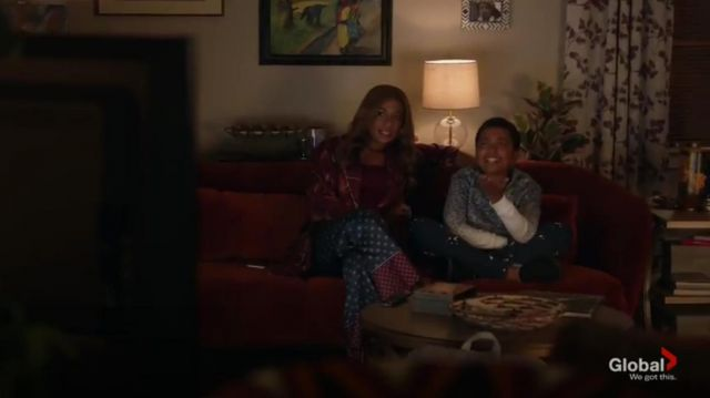 Midnight Bakery Austin floral robe outfit worn by Poppy Banks (Kimrie Lewis-Davis) in Single Parents Season 2 Episode 3 - TV Show Outfits and Products