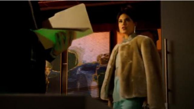 Milly Faux Fur Jacket outfit seen on Cristal Jennings (Ana Brenda Contreras) in Dynasty (S01E19) - TV Show Outfits and Products