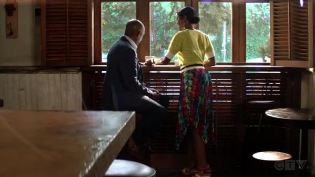 Milly Pleated Geo Print skirt outfit worn by Ali Finer (Javicia Leslie) in God Friended Me Season 2 Episode 2 - TV Show Outfits and Products