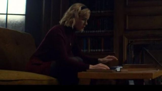 Mini skirt brown Sabrina Spellman (Kiernan Shipka) seen in The New Adventures of Sabrina (Season 1 Episode 1) - TV Show Outfits and Products