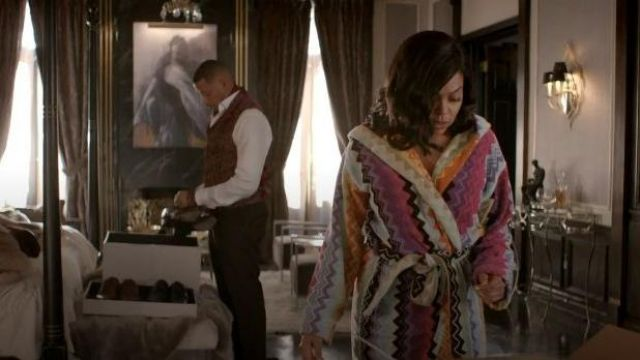 Missoni Home Multi Color Zig Zag print Robe outfit worn by Cookie Lyon (Taraji P. Henson) in Empire Season 06 Episode 04 - TV Show Outfits and Products