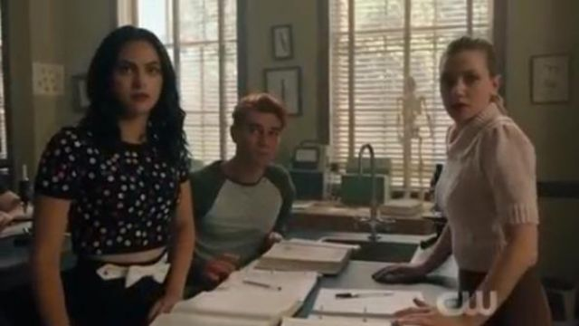 Miu Miu Black Faille Cady A Line Mini Skirt outfit worn by Veronica Lodge (Camila Mendes) in Riverdale Season 4 Episode 5 - TV Show Outfits and Products