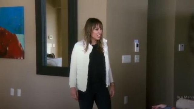 Moncler White Knit Puffer Jacket outfit worn by Kelly Dodd in The Real Housewives of Orange County Season 14 Episode 09 - TV Show Outfits and Products