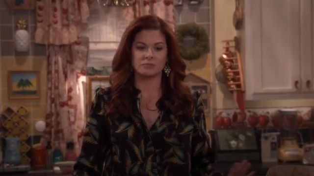 Monica Vinader Siren Green Onyx Chandelier Earrings outfit worn by Grace Adler (Debra Messing) in Will & Grace (S01E15) - TV Show Outfits and Products
