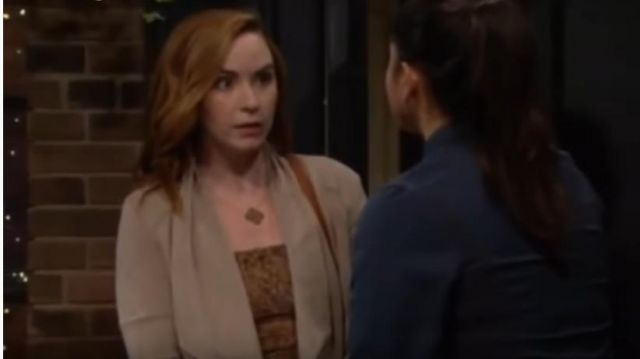 Nanushka Matea top outfit worn by Mariah Copeland (Camryn Grimes) in The Young and the Restless October 4, 2019 - TV Show Outfits and Products