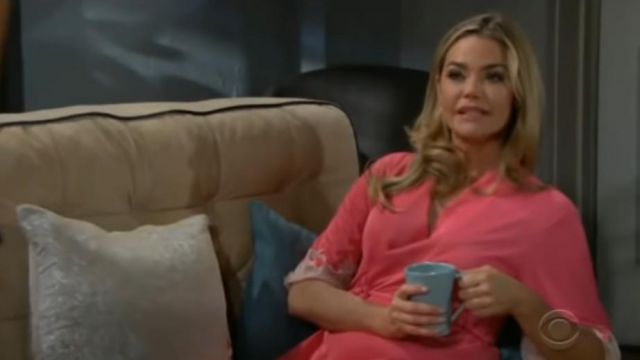 Natori Enchant Lace trim wrap outfit worn by Shauna Fulton (Denise Richards) in The Bold and the Beautiful October 3, 2019 - TV Show Outfits and Products