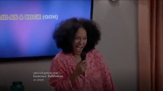 Natori Fleur Pajama Set outfit worn by Rainbow Johnson (Tracee Ellis Ross) in black-ish (Season 01 Episode 09) - TV Show Outfits and Products