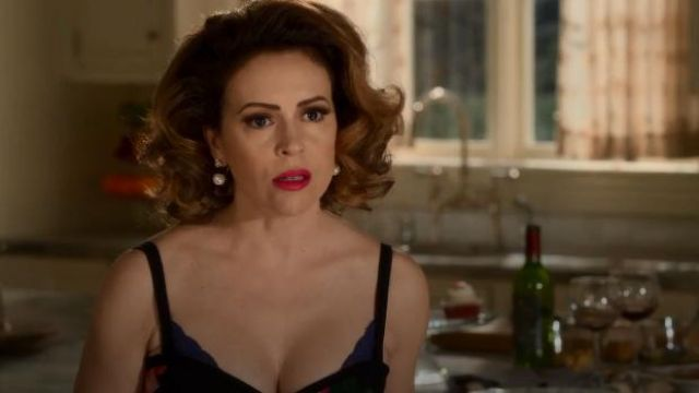 Natori blue lace bra outfit worn by Coralee Armstrong (Alyssa Milano) in Insatiable Season 02 Episode 01 - TV Show Outfits and Products
