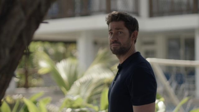 Navy Blue polo shirt outfit worn by Jack Ryan (John Krasinski) in Tom Clancy's Jack Ryan (S02E07) - TV Show Outfits and Products