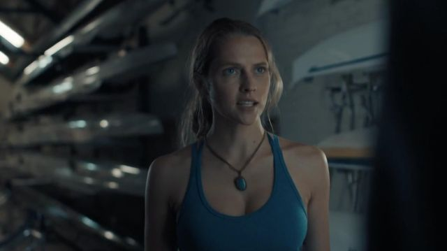 Necklace blue stone outfit worn by Diana Bishop (Teresa Palmer) seen in A Discovery of Witches Season 1 Episode 1 - TV Show Outfits and Products