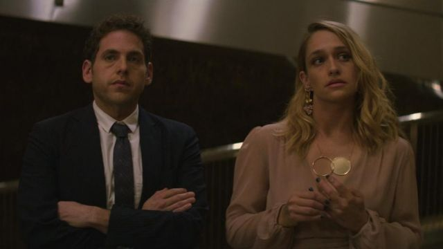 Necklace circle gold Adelaide (Jemima Kirke) seen in Maniac (Season 1 Episode 1) - TV Show Outfits and Products