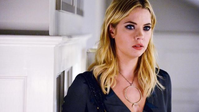 Fashion Trends 2021: Necklace outfit worn by Hanna Marin (Ashley Benson) on Pretty Little Liars Season 5E22
