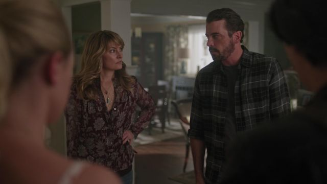 Necklace pendant horn turquoise Peggy Li outfit worn by Alice Cooper (Mädchen Amick) seen in Riverdale Season 3 Episode 2 - TV Show Outfits and Products
