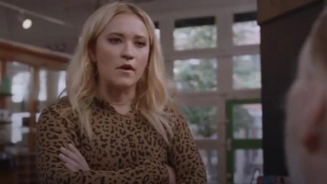 Nili Lotan Brown Janie Printed Cotton-Jersey Hoodie outfit worn by Roxy Doyle (Emily Osment) in Almost Family Season 1 Episode 4 - TV Show Outfits and Products