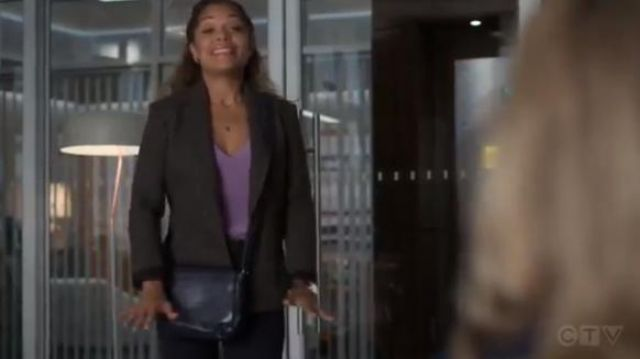 Nili Lotan Grey Humphrey Houndstooth Wool-Blend Blazer outfit worn by Dr. Claire Browne (Antonia Thomas) in The Good Doctor Season 3 Episode 3 - TV Show Outfits and Products
