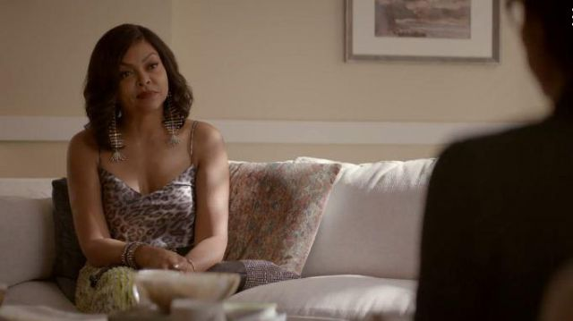 Nili Lotan Leopard Print Cami outfit worn by Cookie Lyon (Taraji P. Henson) in Empire Season 06 Episode 04 - TV Show Outfits and Products