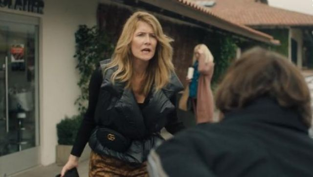 Norma Kamali Sleeping Bag Puffer Vest outfit worn by Renata Klein (Laura Dern) in Big Little Lies (S02E02) - TV Show Outfits and Products