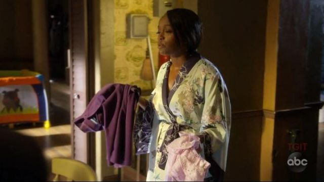 Output of night-blue flowers from Michaela Pratt (Aja Naomi King) seen in ' How to get away with Murder - TV Show Outfits and Products
