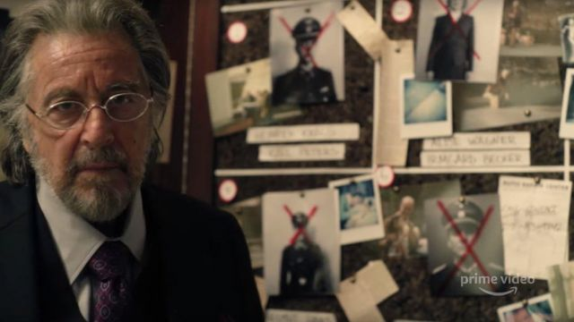 Oval metal eyeglasses outfit worn by Meyer Offerman (Al Pacino) in Hunters (Season 1) - TV Show Outfits and Products
