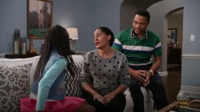 PS Paul Smith Contrast Collar Polo Shirt outfit worn by Andre 'Dre' Johnson (Anthony Anderson) in black-ish (Season 03 Episode 11) - TV Show Outfits and Products
