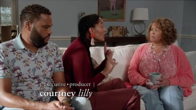 Painted Drop Earrings outfit seen on Rainbow Johnson (Tracee Ellis Ross) in black-ish (S05E05) - TV Show Outfits and Products