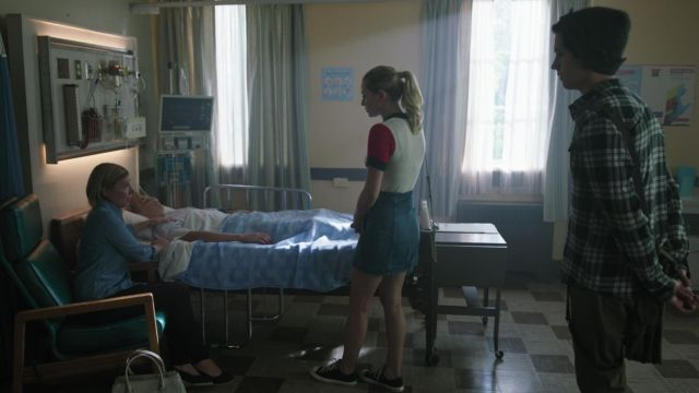 Pair of Converse black low range by Betty Cooper (Lili Reinhart) seen in Riverdale Season 3 Episode 2 - TV Show Outfits and Products