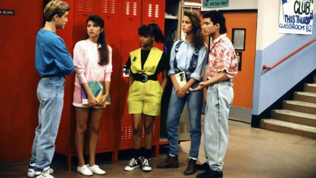 Pair Of Keds White Outfit Worn By Kelly Kapowski Tiffani Thiessen Seen In Saved By The Gong Tv Show