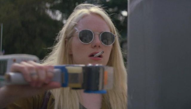 Pair of round sunglasses Annie Landsberg (Emma Stone) seen in Maniac (Season 1 Episode 2) - TV Show Outfits and Products