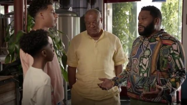 Paul Smith Artist Studio Hoodie outfit worn by Andre 'Dre' Johnson (Anthony Anderson) in black-ish Season 6 Episode 3 - TV Show Outfits and Products