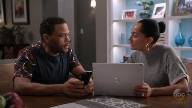 Paul Smith Rose Print Tee outfit worn by Andre 'Dre' Johnson (Anthony Anderson) in black-ish (Season 03 Episode 11) - TV Show Outfits and Products