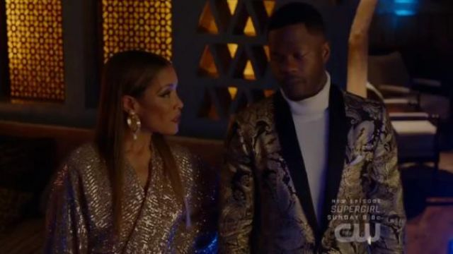 Pink Sequined Gown outfit worn by Dominique Deveraux (Michael Michele) in Dynasty Season 3 Episode 5 - TV Show Outfits and Products