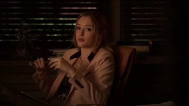 Pink Single Breasted Blazer outfit worn by Kirby Anders (Maddison Brown) in Dynasty Season 3 Episode 5 - TV Show Outfits and Products