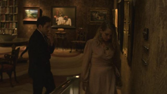 Pink dress Adelaide (Jemima Kirke) seen in Maniac (Season 1 Episode 1) - TV Show Outfits and Products