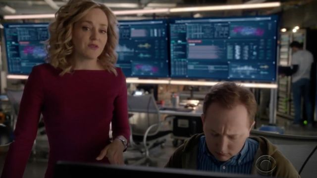 Pink dress by Roland Mouret outfit worn by Marissa Morgan (Geneva Carr) seen in Bull Season 2E17
