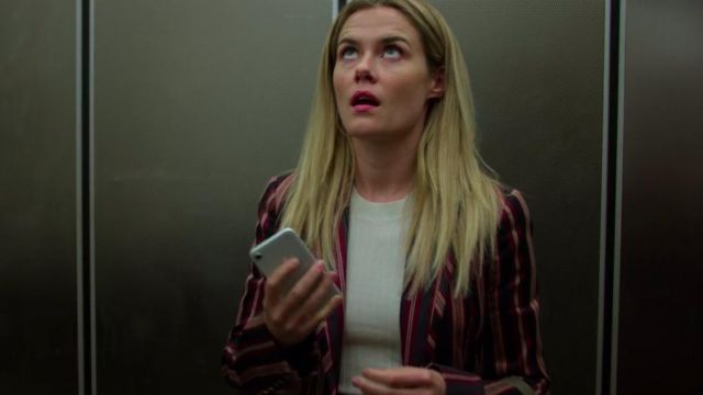 Pink stripe blazer of Trish Walker (Rachael Taylor) in Marvel's Jessica Jones (S03E02) - TV Show Outfits and Products