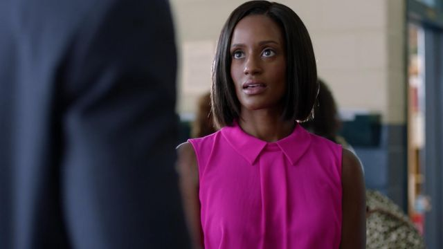 Pink top CeCe wore by Kara Fowdy (Skye P. Marshall) seen in Black Lightning Season 1 Episode 1 - TV Show Outfits and Products