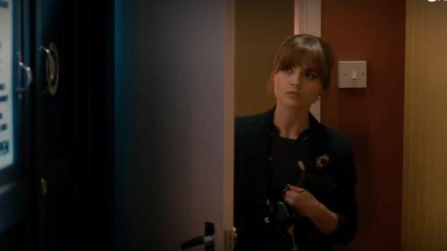 Pins and Needles at Urban Outfitters Double Breasted Blazer outfit seen on Clara (Jenna Coleman) in Doctor Who (S08E04) - TV Show Outfits and Products