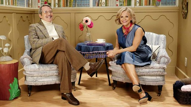 Fashion Trends 2021: Plaid Jacket outfit seen on Matthew Broderick in At Home with Amy Sedaris Season 1