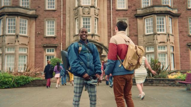 Fashion Trends 2021: Plaid Pants outfit seen on Eric (Ncuti Gatwa) in Sex Education S01E01