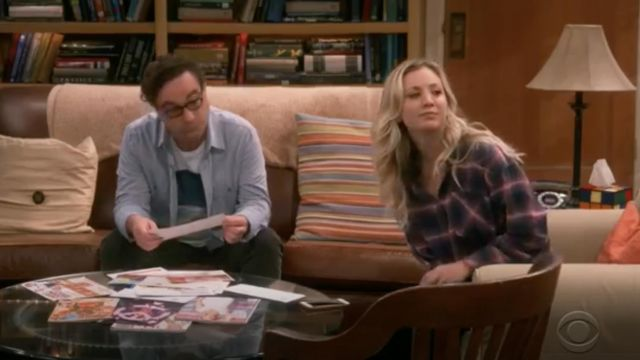 Plaid shirt Rails laid by Penny (Kaley Cuoco) seen in The Big Bang Theory S12 Episode 5 - TV Show Outfits and Products