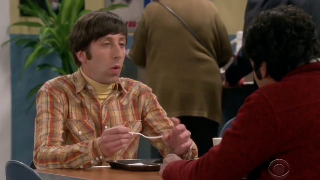 Plaid shirt Salt Valley of Howard Wolowitz (Simon Helberg) The Big Bang Theory S12 Episode 3 - TV Show Outfits and Products