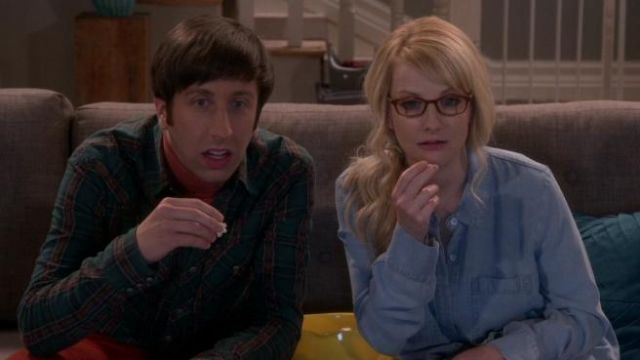 Plaid shirt green Howard Wolowitz (Simon Helberg) Big Bang Theory S12 Episode 1 - TV Show Outfits and Products