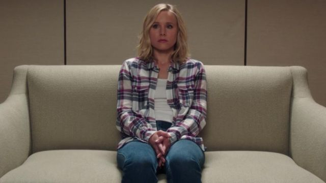 Plaid shirt of Eleanor Shellstrop (Kristen Bell) seen in The Good Place (Season 3 Episode 7) - TV Show Outfits and Products