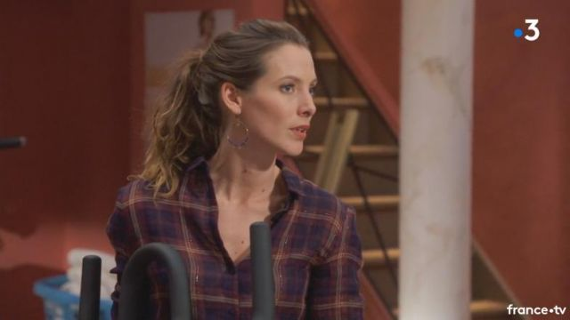 Fashion Trends 2021: Plaid shirt of Estelle Cantorel (Elodie Varlet) seen in Longer Ball life S14E3480