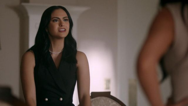 Fashion Trends 2021: Playsuit (with short) Veronica Lodge (Camila Mendes) seen in Riverdale