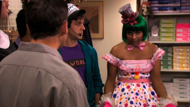 Polka Dot Dress of Kelly Kapoor (Mindy Kaling) in The Office (Season 07 Episode 06) - TV Show Outfits and Products