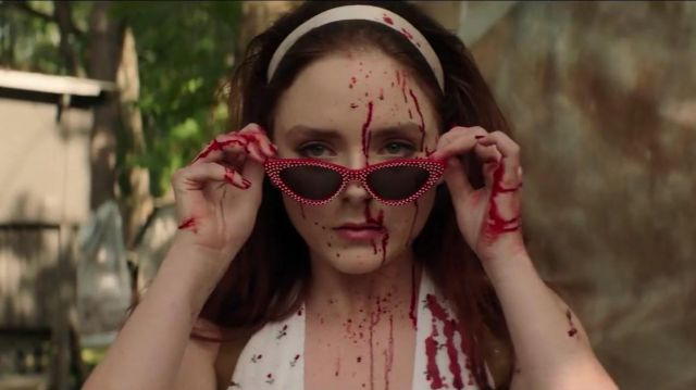 Polka dot cateye sunglasses outfit worn by Meredith (Madison Davenport) in Reprisal (S01) - TV Show Outfits and Products